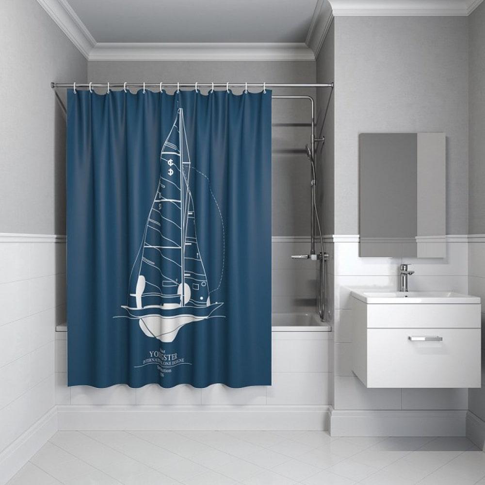 Штора для ванной комнаты iddis, 200*180см, полиэстер,