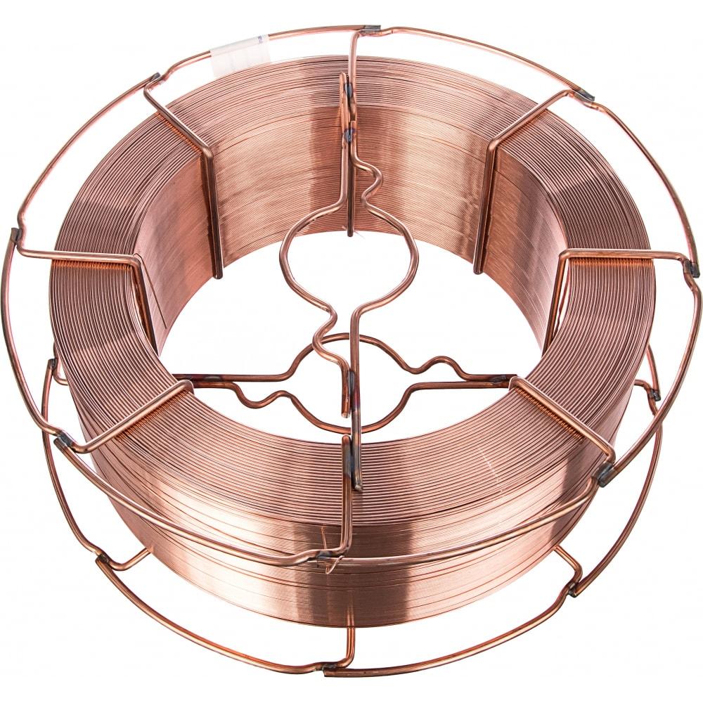 Проволока сварочная омедненная св-08г2с-о (15 кг; 0.8 мм) inforce 11-05-27