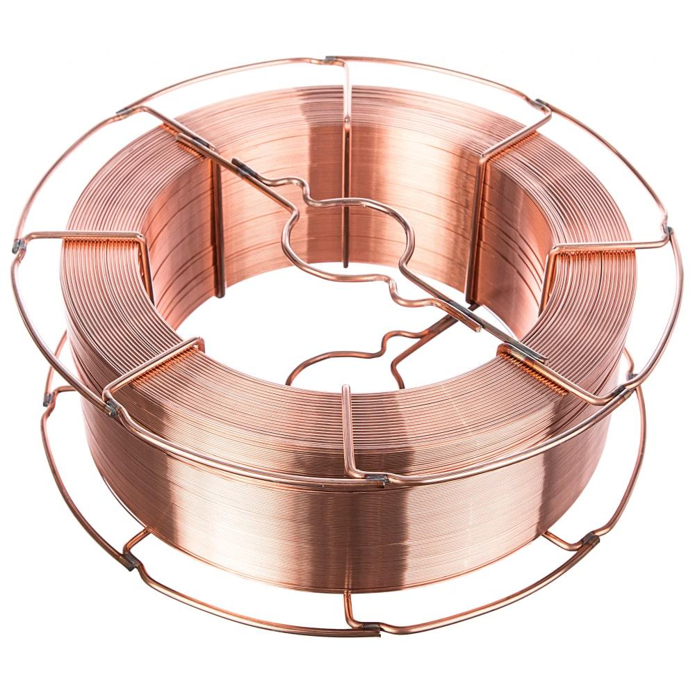 Проволока сварочная омедненная св-08г2с-о (15 кг; 1 мм) inforce 11-05-30