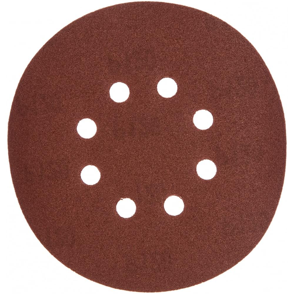 Купить Круг шлифовальный на липучке по дереву/металлу 10 шт. (150 мм; p120; 8 отверстий) gigant g-1032