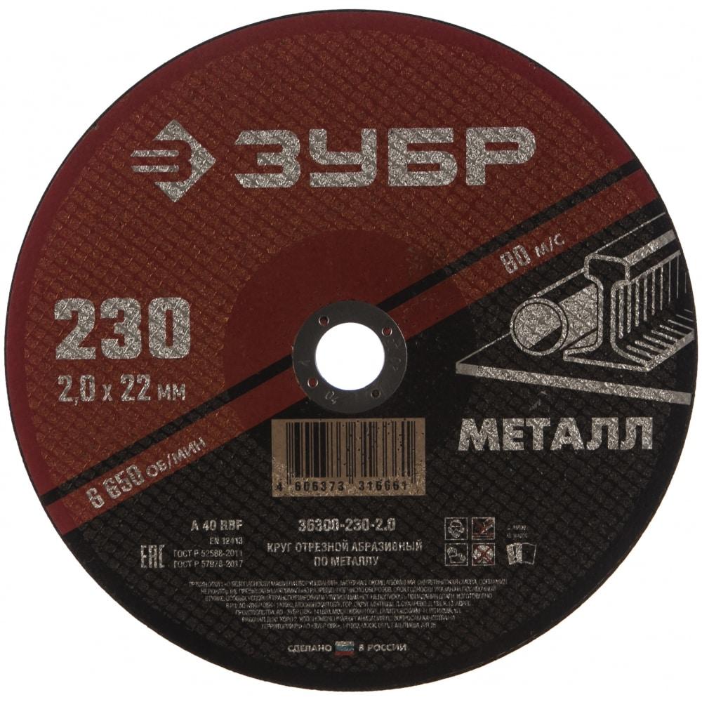 Круг отрезной абразивный по металлу мастер (230х2х22.2