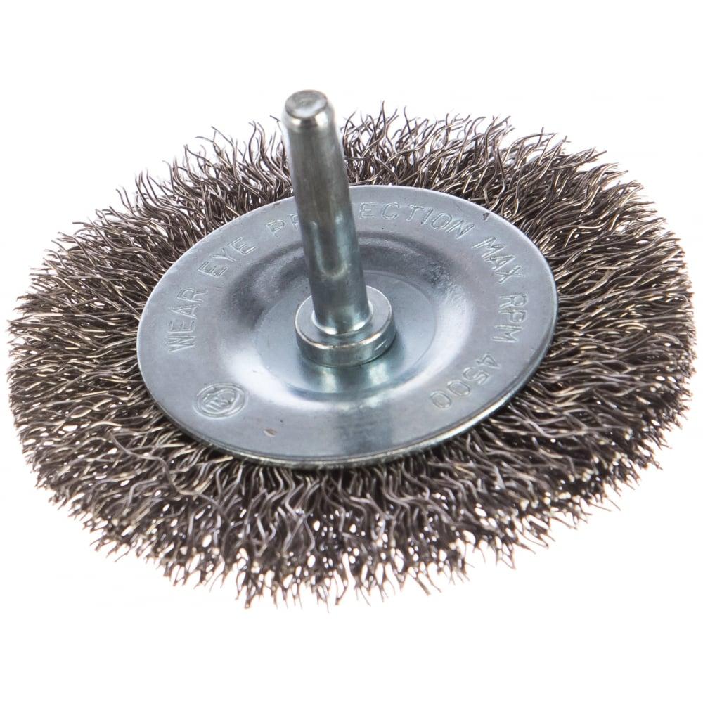 Купить Щетка проволочная дисковая (75 мм; inox; хвостовик 6.25 мм) graphite 57h602