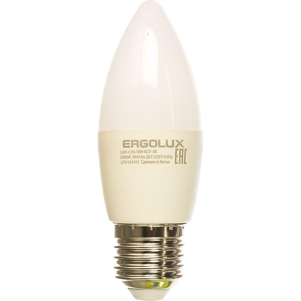 Купить Электрическая светодиодная лампа ergolux led-c35-11w-e27-3k свеча 11вт e27 3000k 13621