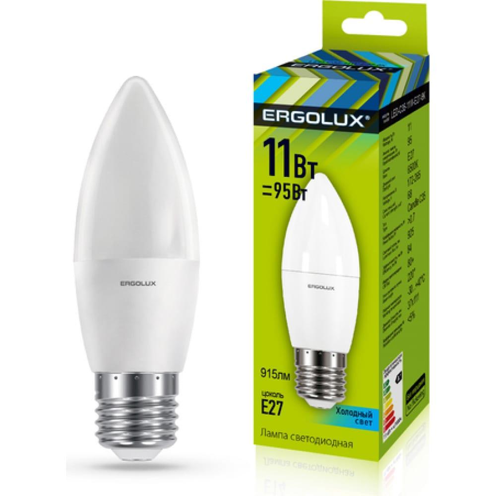 Купить Электрическая светодиодная лампа ergolux led-c35-11w-e27-4k свеча 11вт e27 4500k 13622