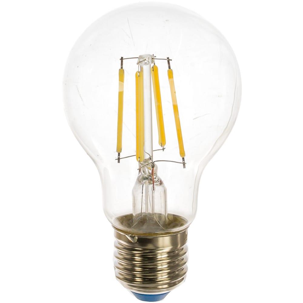 Светодиодная лампа uniel led-a60-8w/nw/e27/cl gla01tr форма a, прозрачная ul-00002212