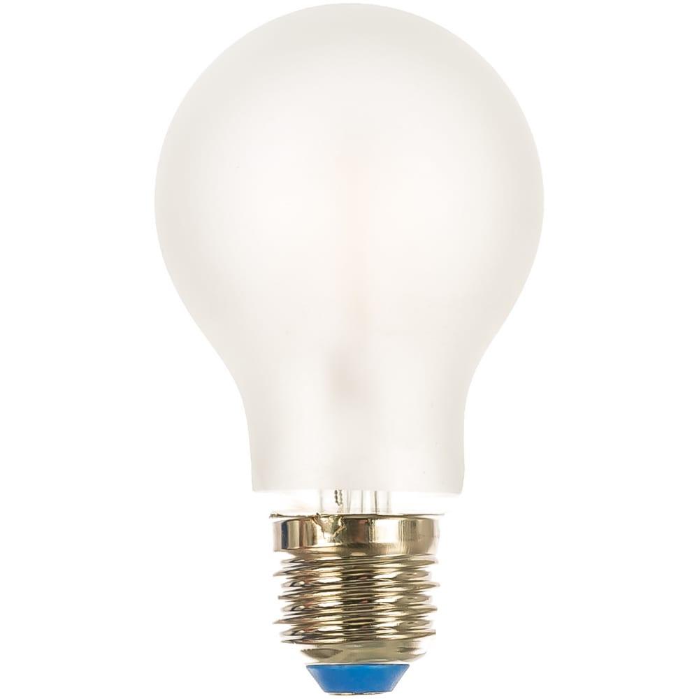 Светодиодная лампа uniel led-a60-8w/ww/e27/fr pls02wh форма a, матовая ul-00000304
