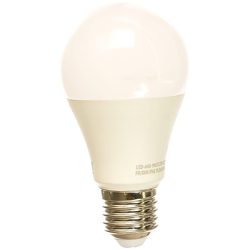 Светодиодная лампа для птиц uniel led-a60-9w/scep/e27/fr/dim ip65 plo65wh ul-00003189