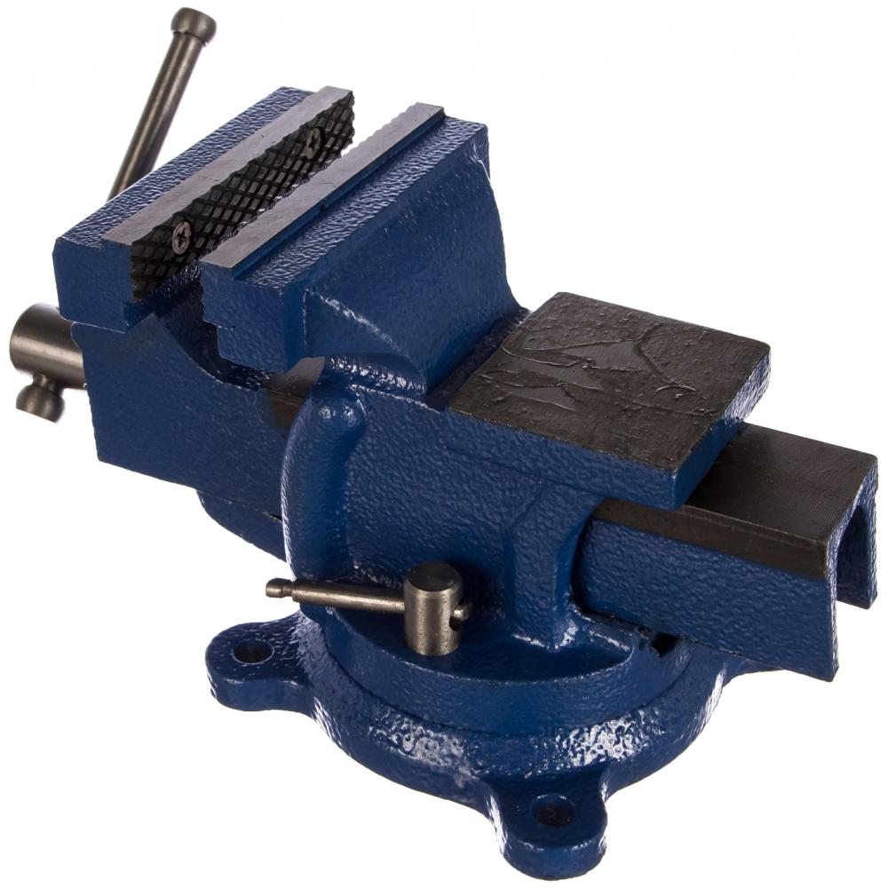 Купить Слесарные тиски griff 100 мм, поворотные, стальные, с наковальней 5 кг g164004
