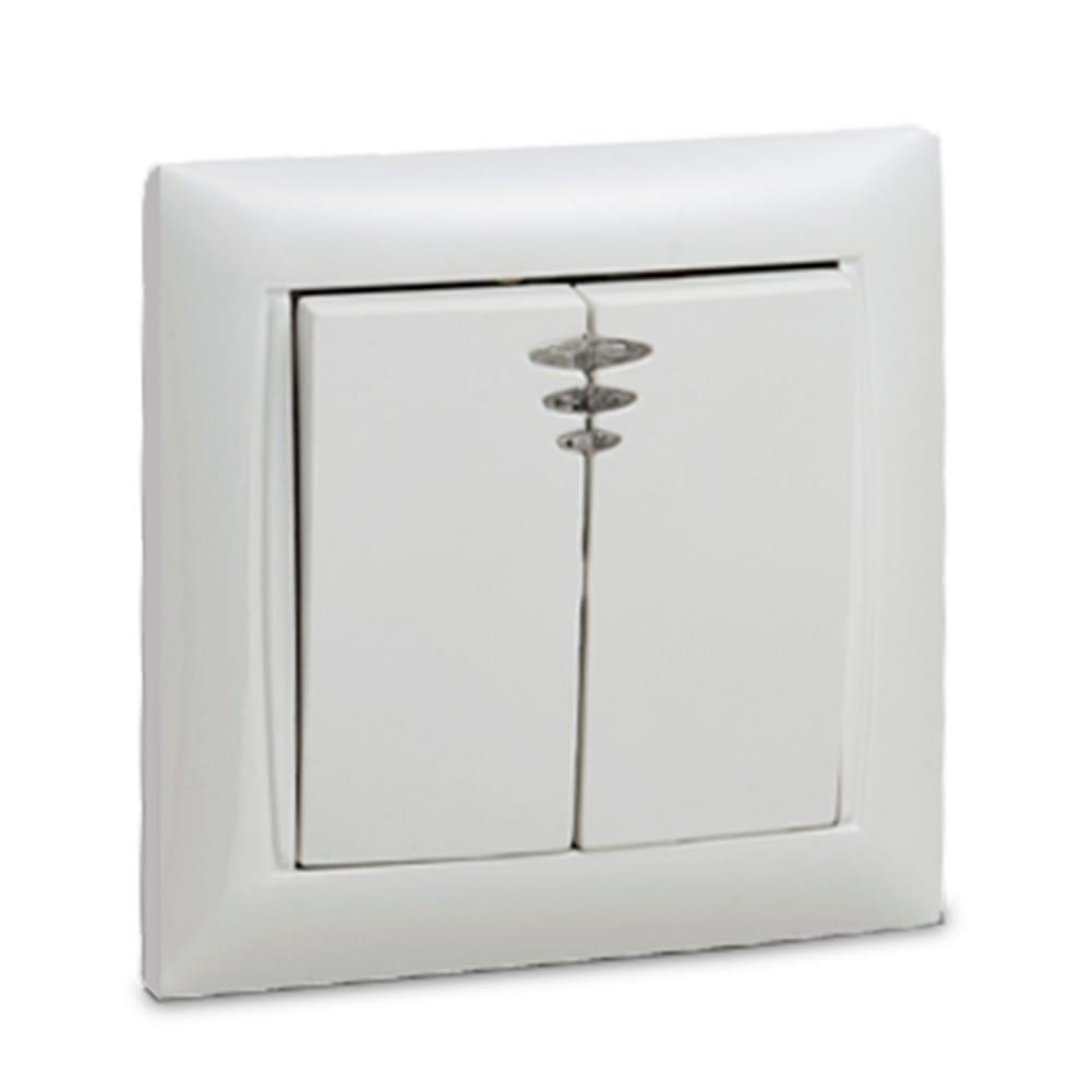 Выключатель in home 2кл с подсветкой valenzo белый 6123 4690612006321  - купить со скидкой