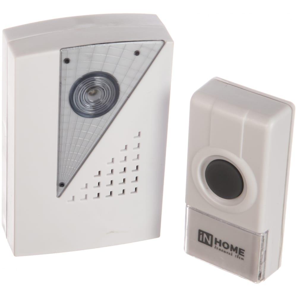 Беспроводной звонок in home зб-7 32 мелодии 120м ip44 бело-серый 4690612013350