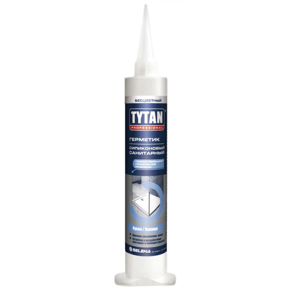 Купить Силиконовый санитарный универсальный герметик tytan professional бесцветный 80мл 621