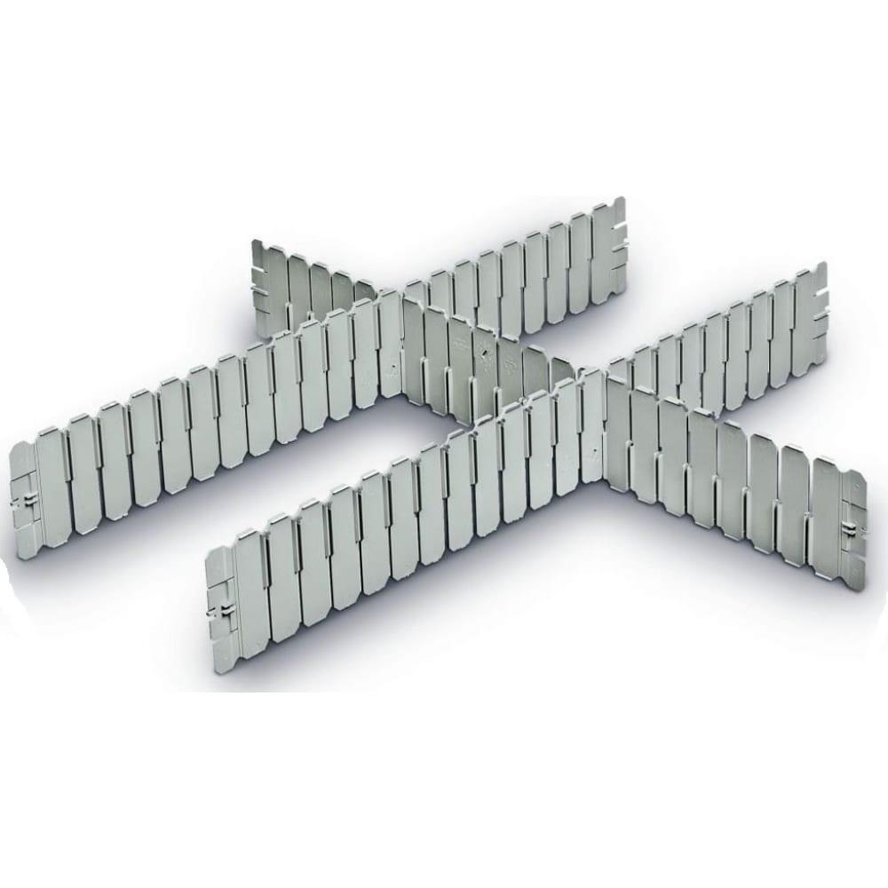 Разделитель 600 на 85 серый пластик система