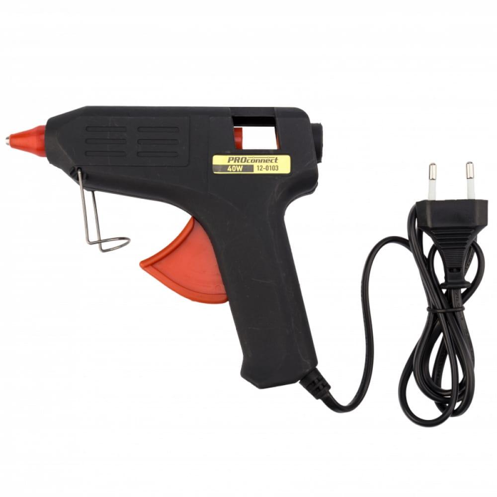 Клеевой пистолет proconnect 40вт 12-0103