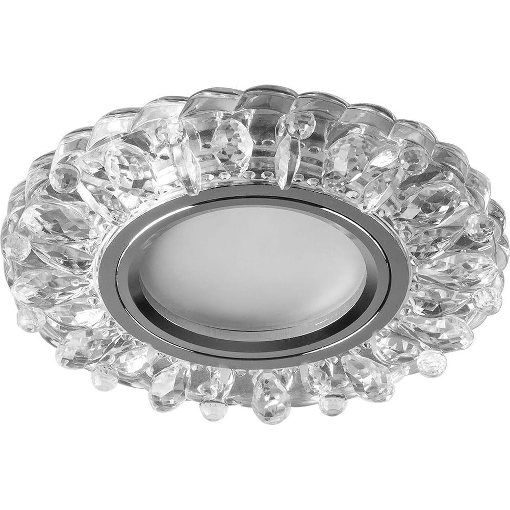 Купить Встраиваемый потолочный светильник feron со светодиод подсветкой, прозрач, хром, cd916 28988
