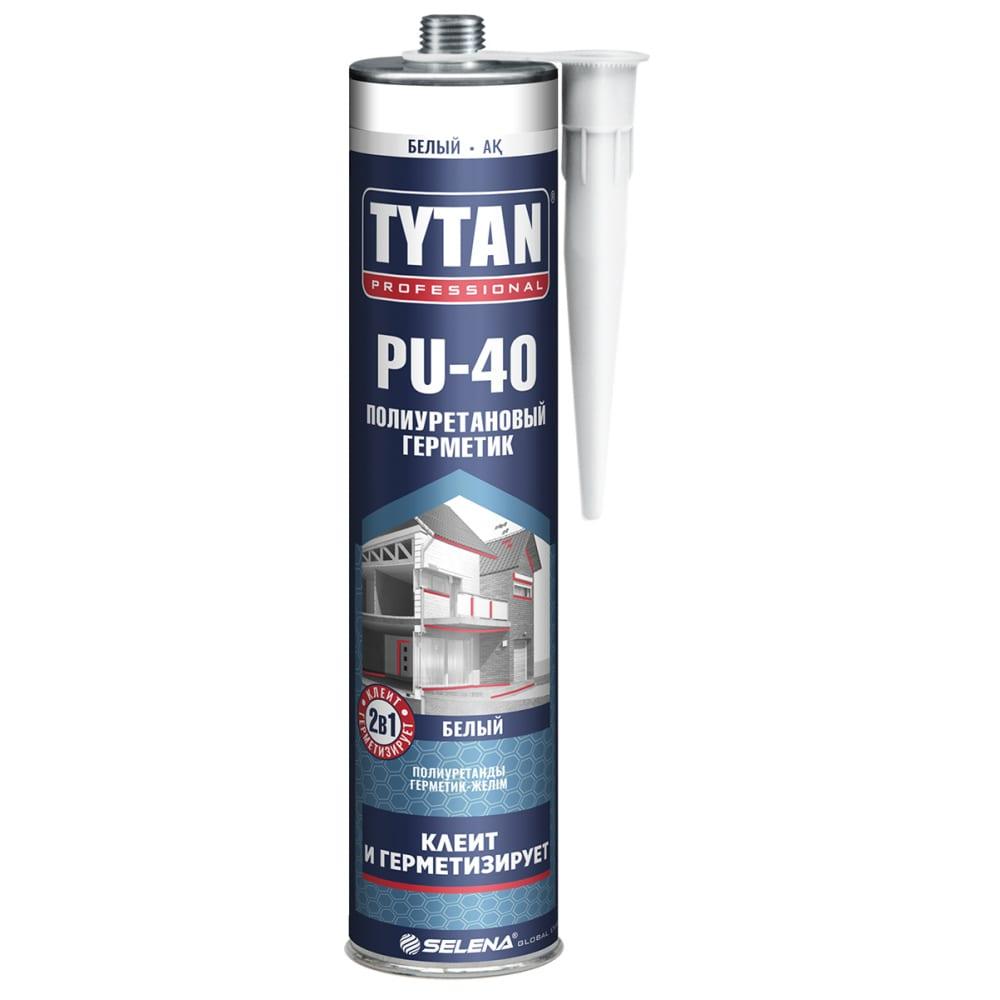Полиуретановый герметик tytan professional pu 40 цвет белый 310мл 66244  - купить со скидкой