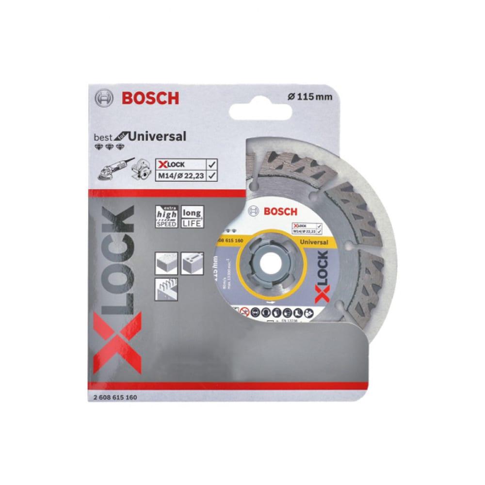 Купить Диск алмазный best for hard ceramic x-lock (115х22.2 мм) bosch2608615160