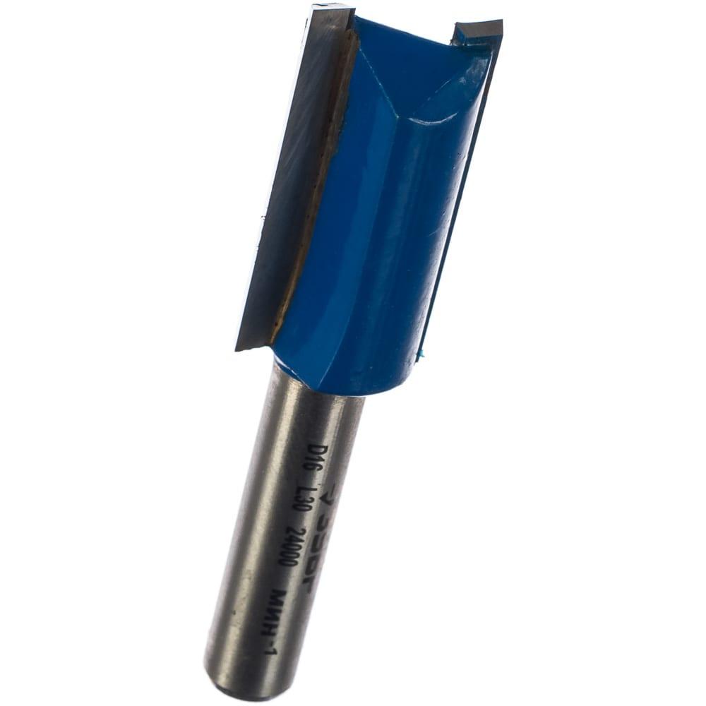 Фреза пазовая прямая профессионал (16х30х62 мм; хвостовик