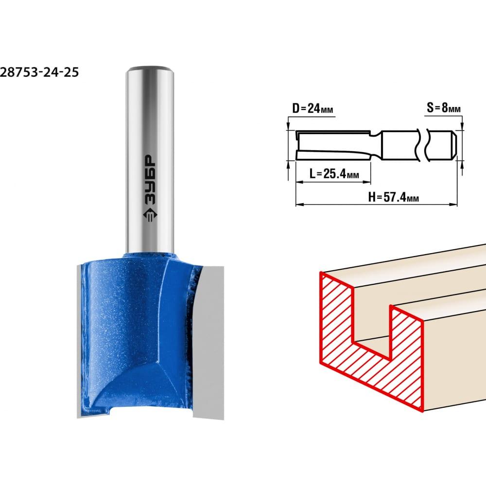 Фреза пазовая прямая профессионал (24х25х57.5 мм; хвостовик