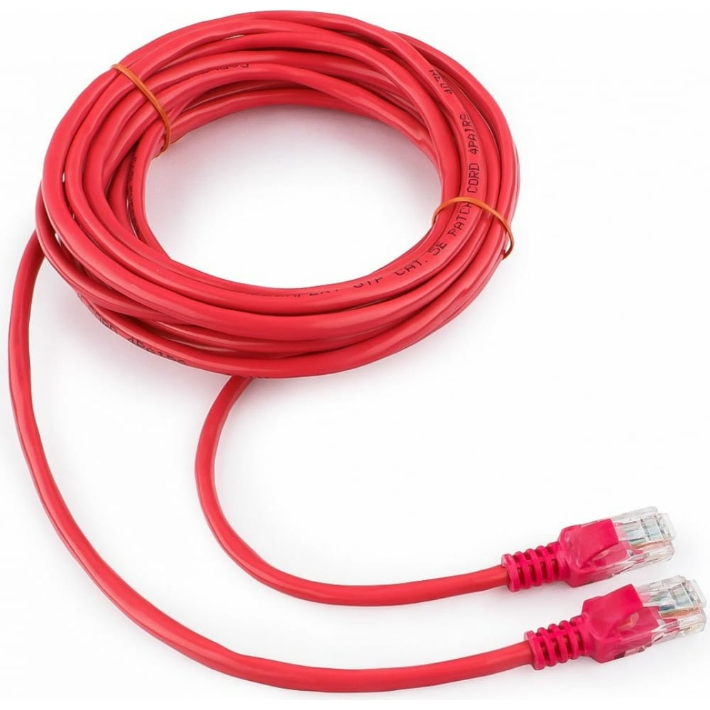 Купить Патч-корд cablexpert utp pp12-5m/r кат.5e, 5м, литой, многожильный розовый pp12-5m/ro