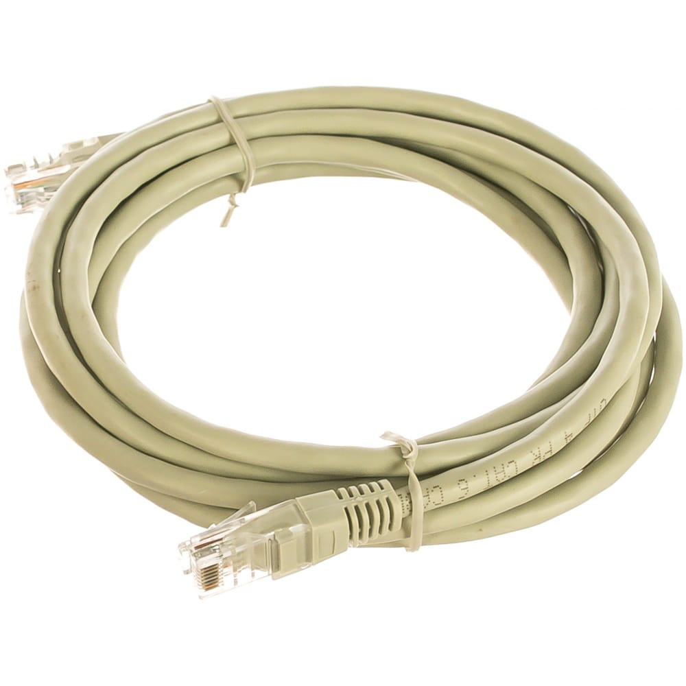 Купить Патч-корд cablexpert utp pp6u-3m кат.6, 3м, литой, многожильный серый pp6u-3m