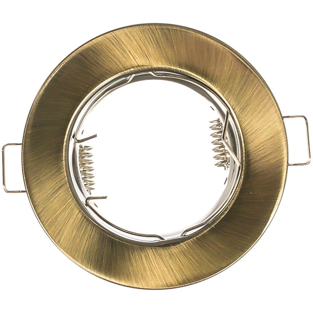 Купить Встраиваемый потолочный светильник feron mr16 g5.3 античное золото, dl10 15206
