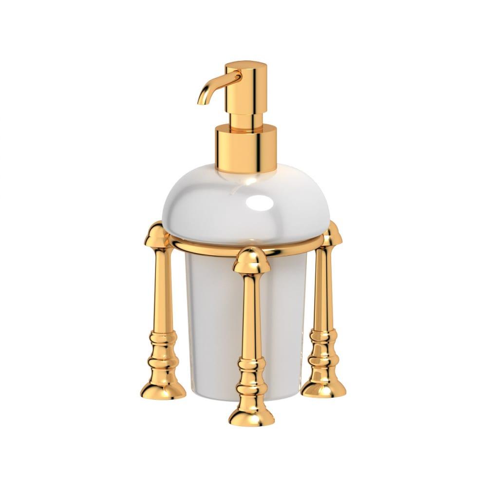Купить Держатель с дозатором жидкого мыла 3sc настольный фарфор; золото sti 229
