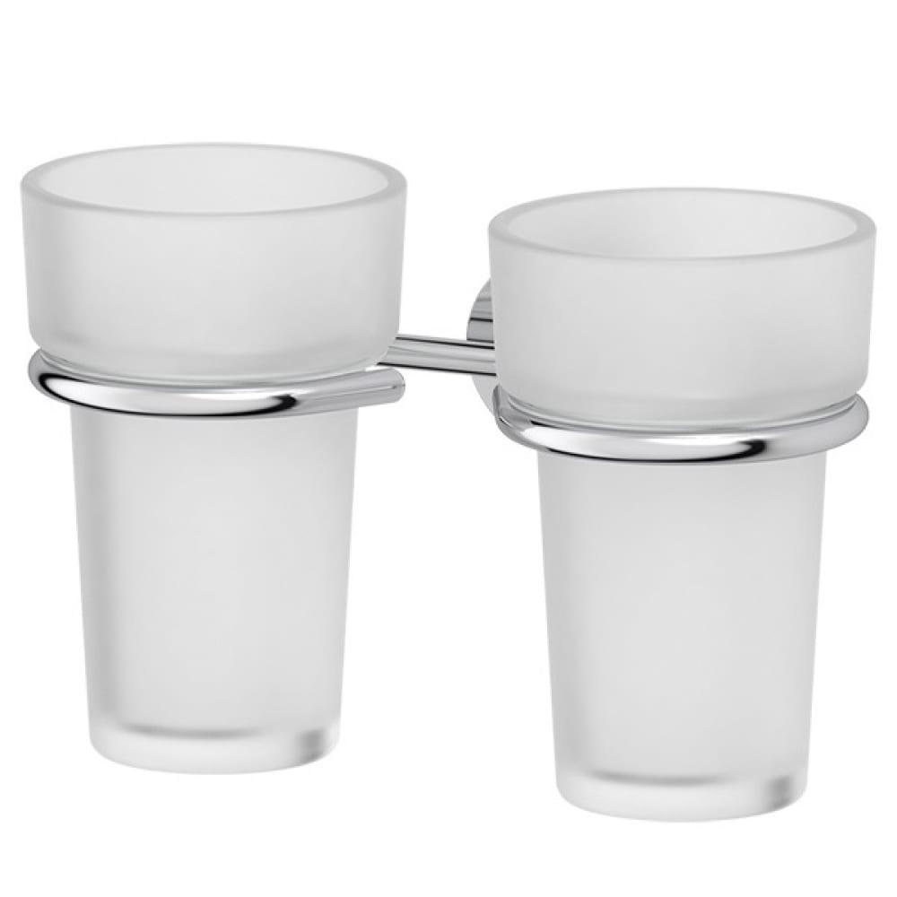 Купить Держатель с 2-мя стаканами fbs матовый хрусталь; хром viz 007