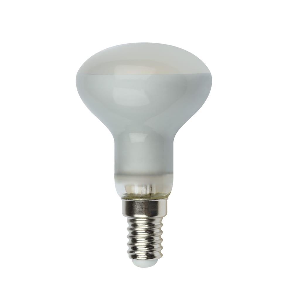 Светодиодная лампа uniel led-r50-6w/ww/e14/fr pls02wh. форма «рефлектор», матовая. ul-00001491