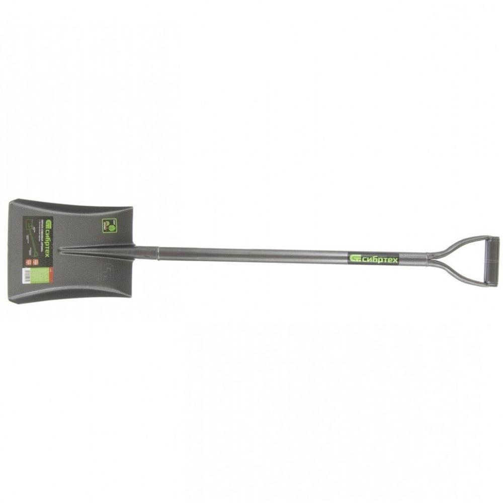 Совковая цельнометаллическая лопата сибртех 61473