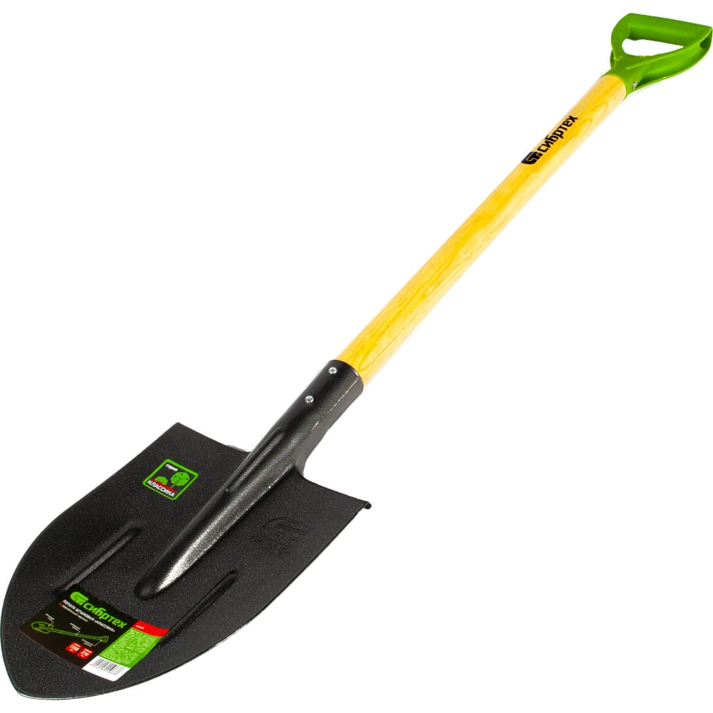 Штыковая лопата, деревянный черенок сибртех 61479