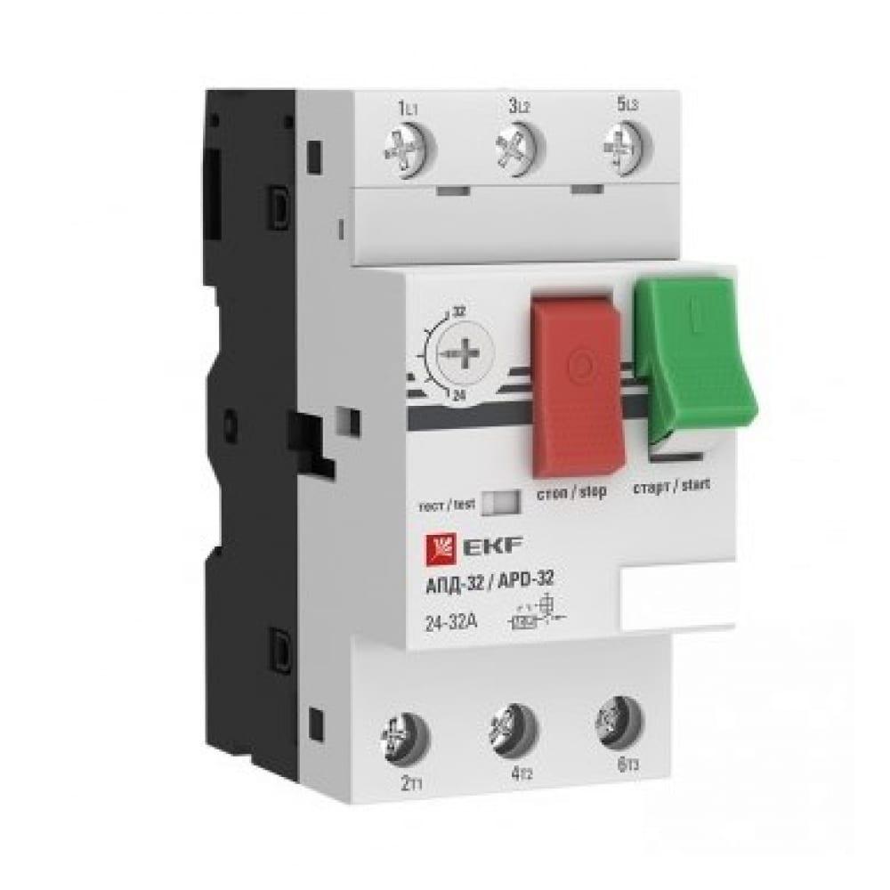 Купить Мотор-автомат ekf 1.6-2.5а апд32-2.5 управление кнопками - винтовые зажимы apd2-1.6-2.5