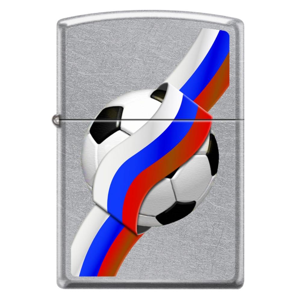 Купить Зажигалка zippo российский футбол с покрытием street chrome 207 russian soccer