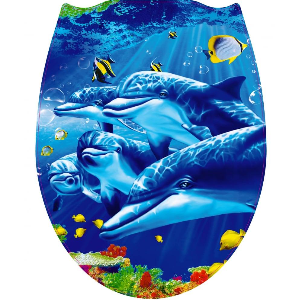 Купить Крышка для унитаза vanstore пластик фотопринт дельфины rus 127
