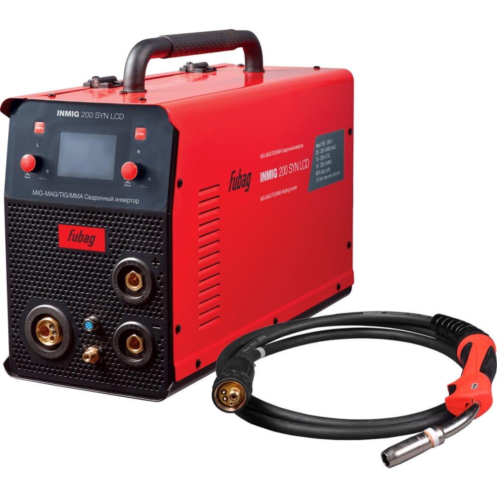 Сварочный полуавтомат инвертор fubag inmig 200 syn lcd 31435 + горелка fb 250 3 м 38443 31435.1