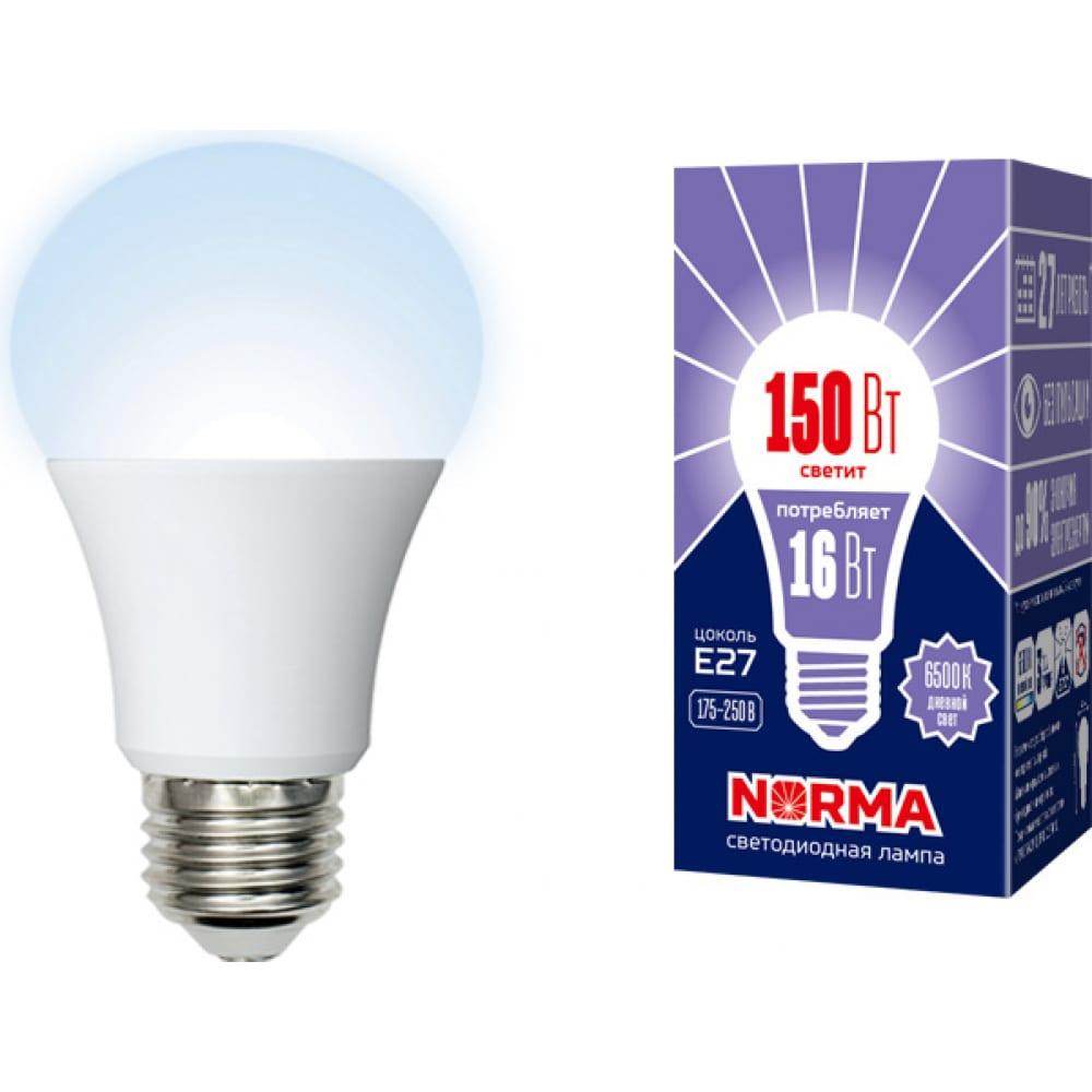 Светодиодная лампа volpe led-a60-16w/dw/e27/fr/nr. форма a, матовая. ul-00004025  - купить со скидкой