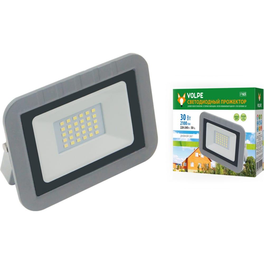 Светодиодный прожектор volpe ulf-q591 30w/dw ip65 220-240в silver. ul-00003589