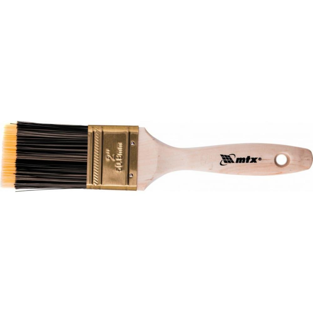 Плоская кисть matrix golden 2 , искусственная щетина, деревянная ручка 83222  - купить со скидкой