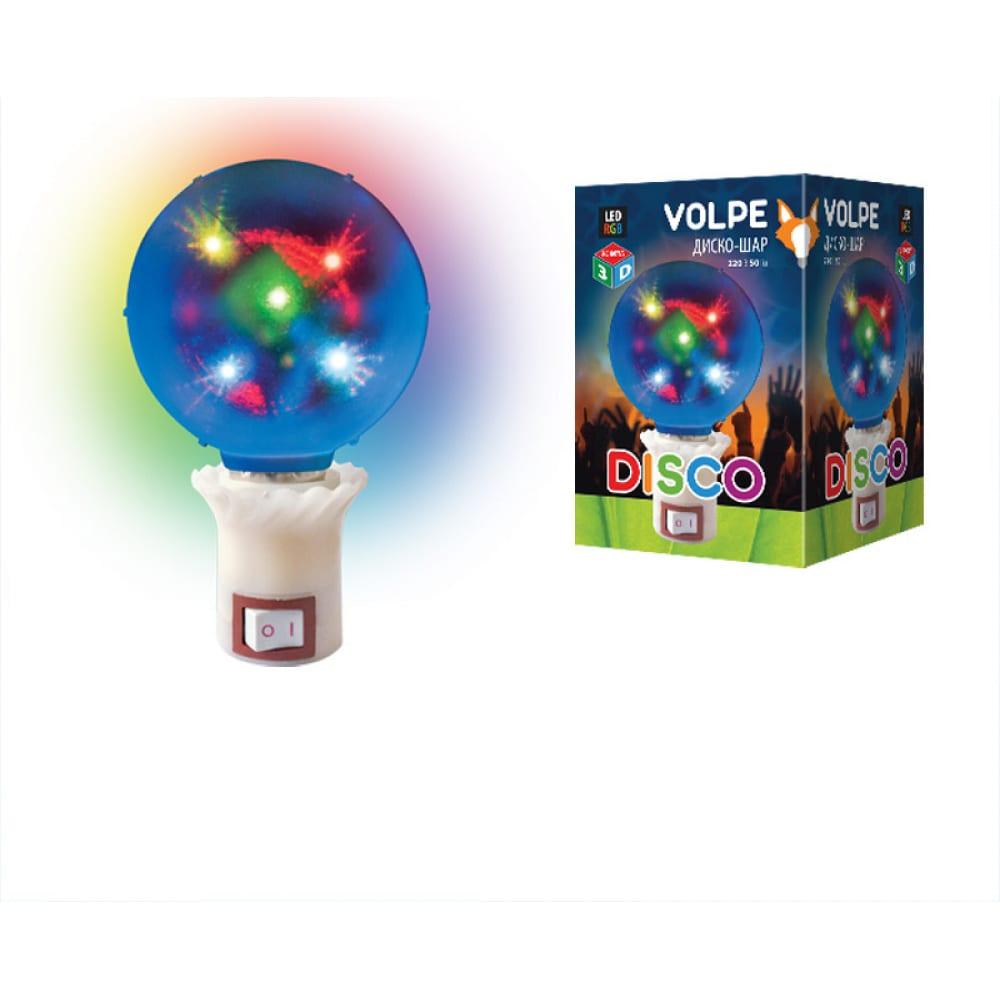 Светодиодный светильник volpe uli q309 1,5w/rgb диско