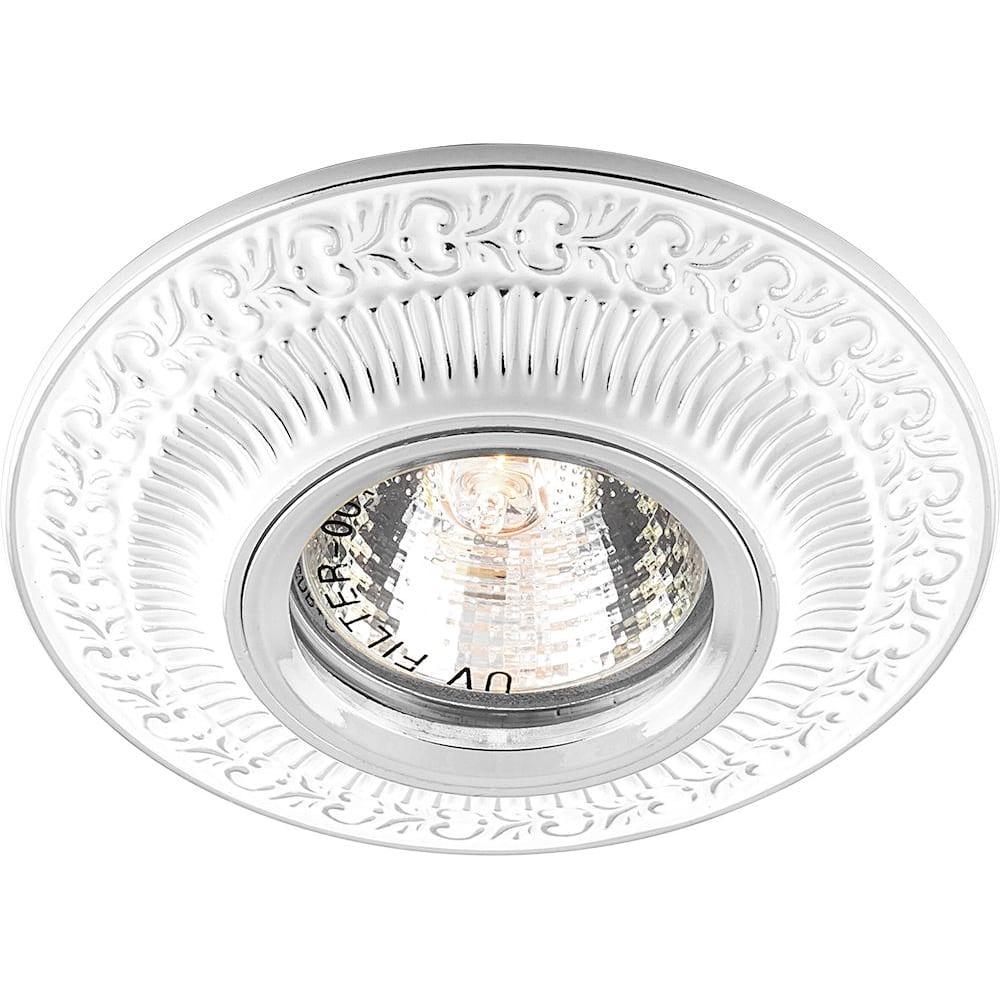 Купить Встраиваемый потолочный светильник feron mr16 g5.3 белый хром, dl6240 28883