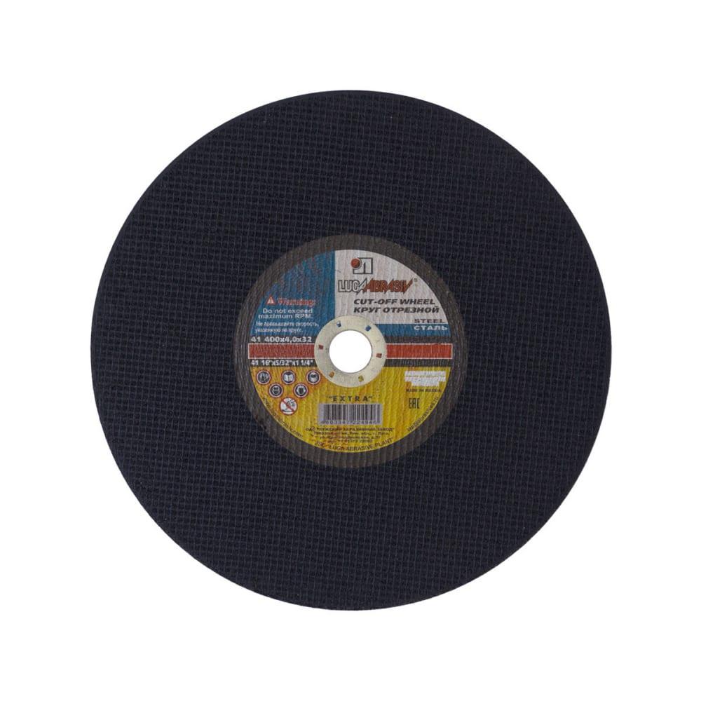 Круг отрезной по металлу (400x4x32 мм, а24) луга-абразив 18071  - купить со скидкой