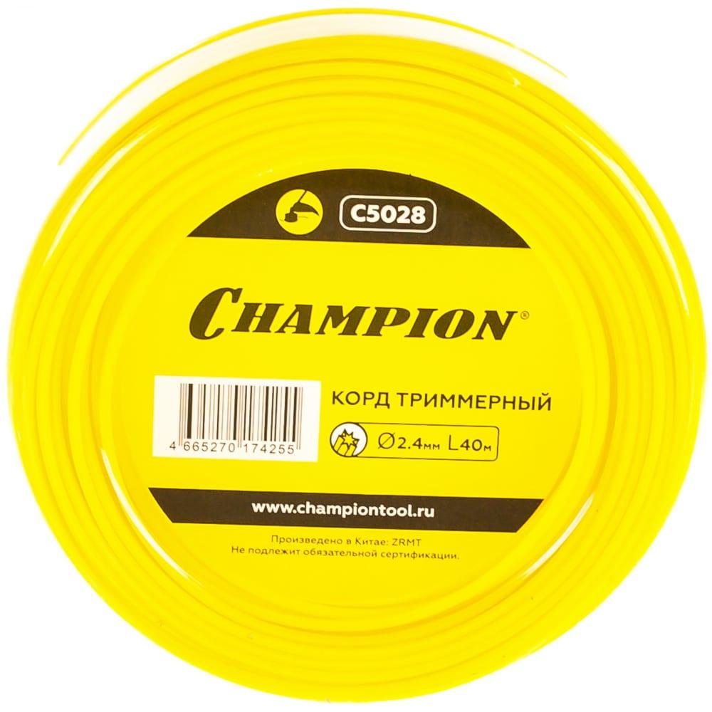 Купить Корд триммерный star (2.4 мм, 40 м) champion c5028