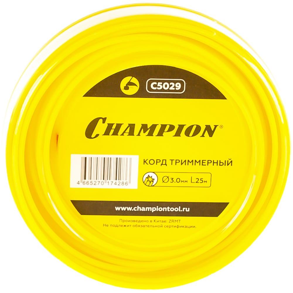 Корд триммерный star (3 мм, 25 м) champion c5029  - купить со скидкой
