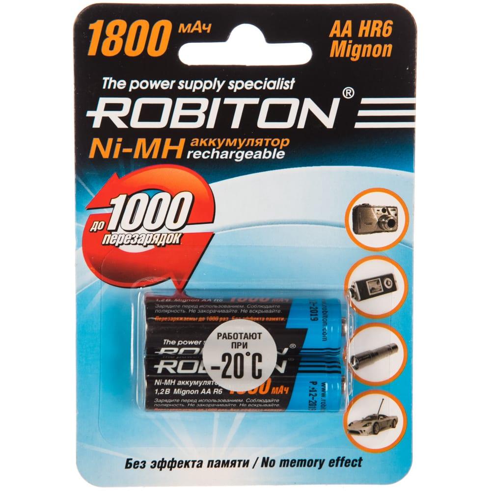 Купить Аккумулятор robiton 1800mhaa-2 bl2 (2шт) 8790