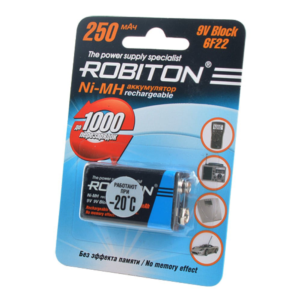 Аккумулятор robiton 250mh9-1 bl1 8801  - купить со скидкой