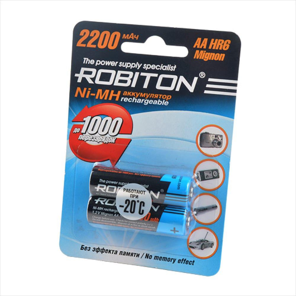 Аккумулятор robiton 2200mhaa-2 bl2 (2шт) 8791  - купить со скидкой