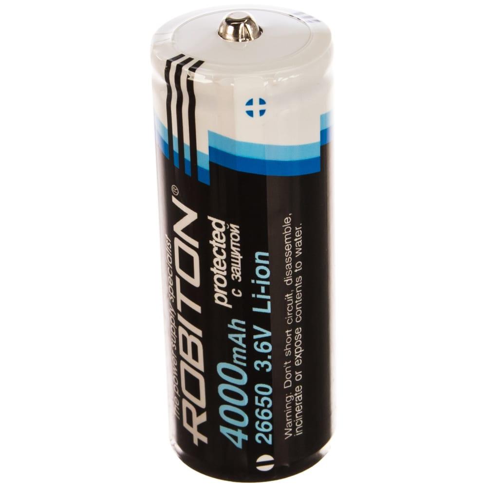 Купить Аккумулятор robiton li26650 с защитой pk1 13010