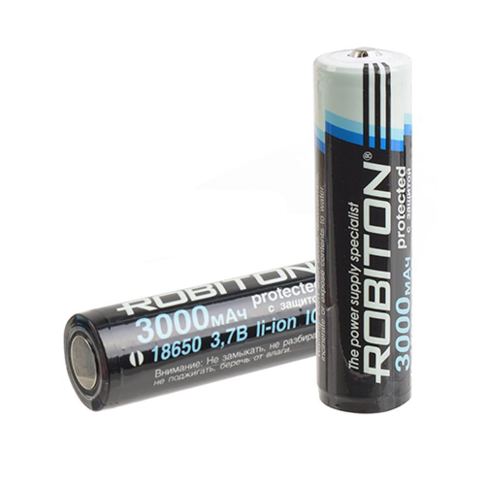 Купить Аккумулятор robiton li3.0/18650 с защитой pk1 13489