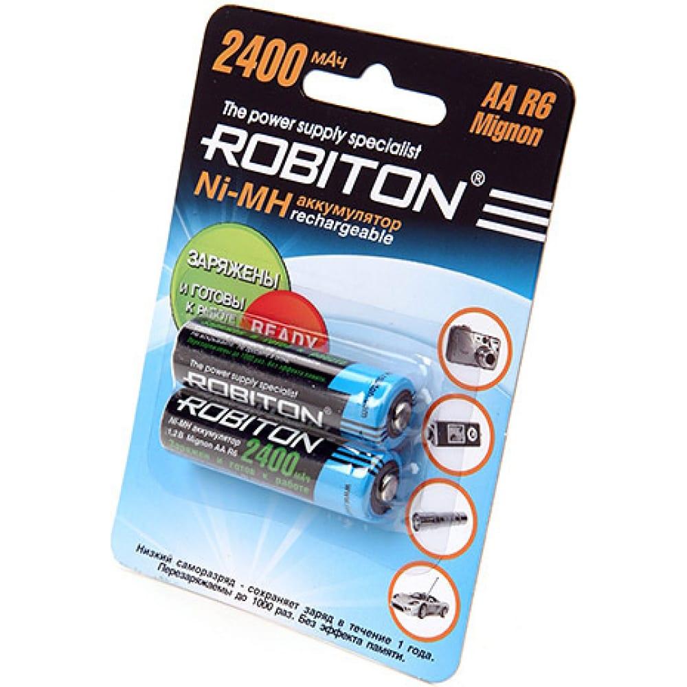 Аккумулятор robiton rtu2400mhaa-2 bl2 (2шт) 9791  - купить со скидкой