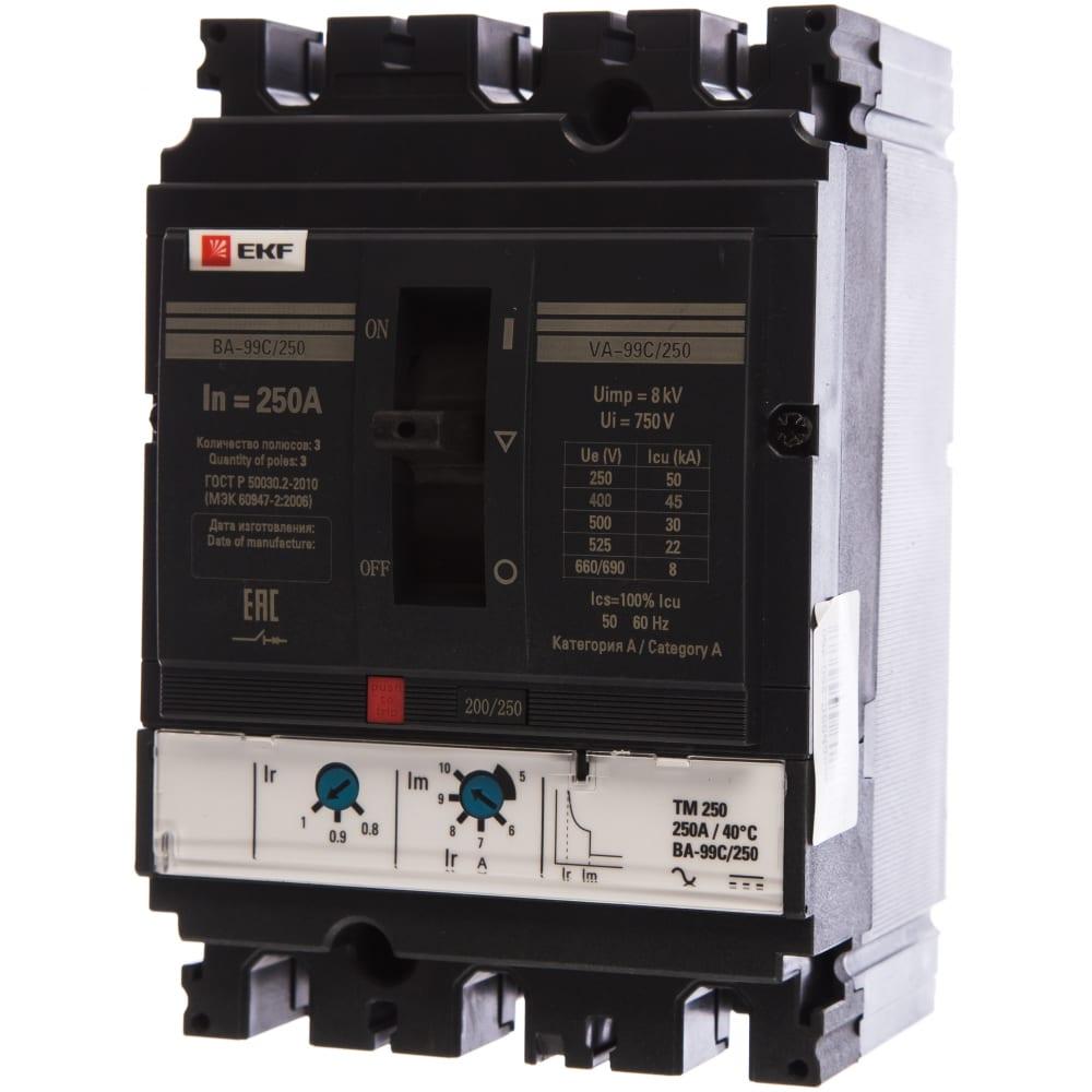 Автоматический трехполюсный выключатель ekf ва-99c 250/250а 45ка mccb99c-250-250