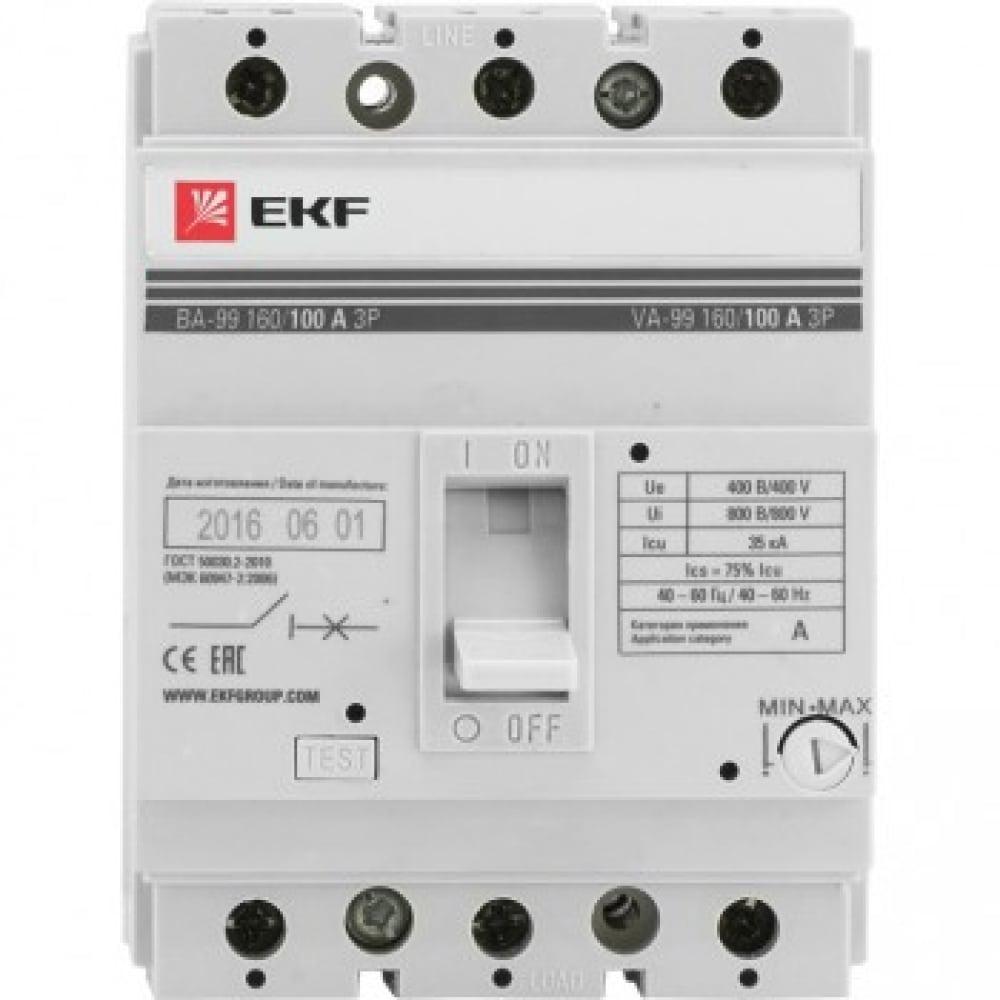 Автоматический выключатель ekf ва-99/160 80а 3ф 35ка рэ800а mccb99-160-80